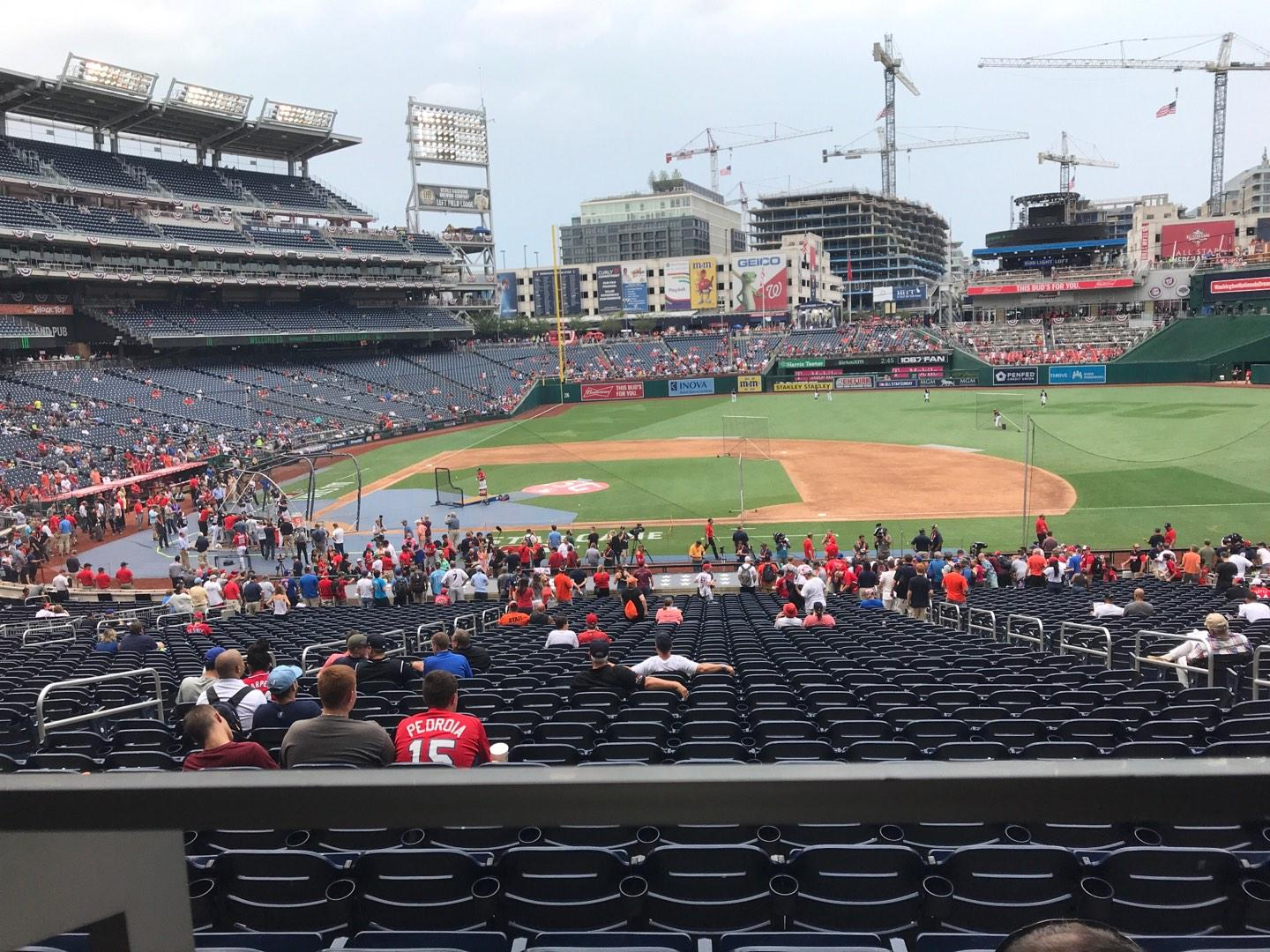 Nationals Park Section 129 Row WWc Seat 5