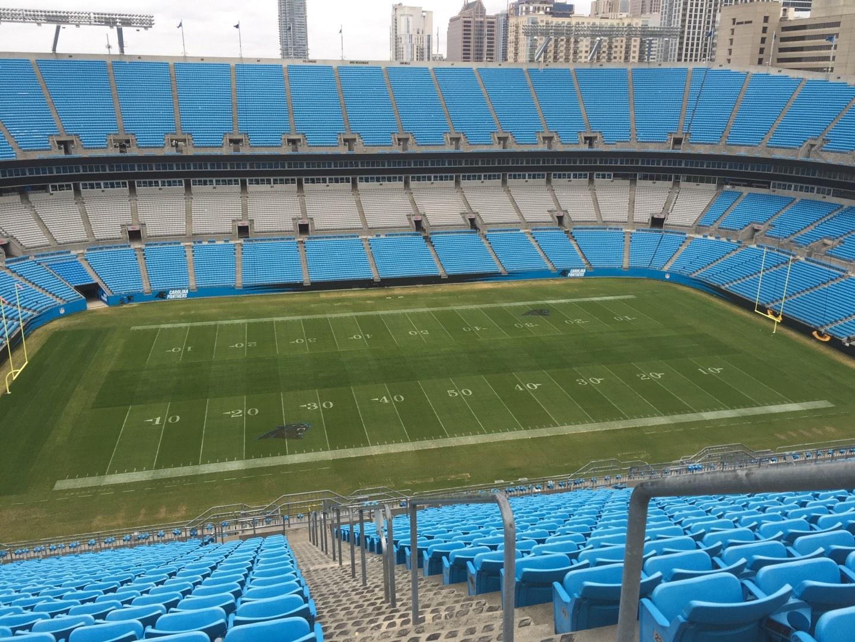 Bank of America Stadium Section 544 Row 25 Seat 1, 2, 3, 4