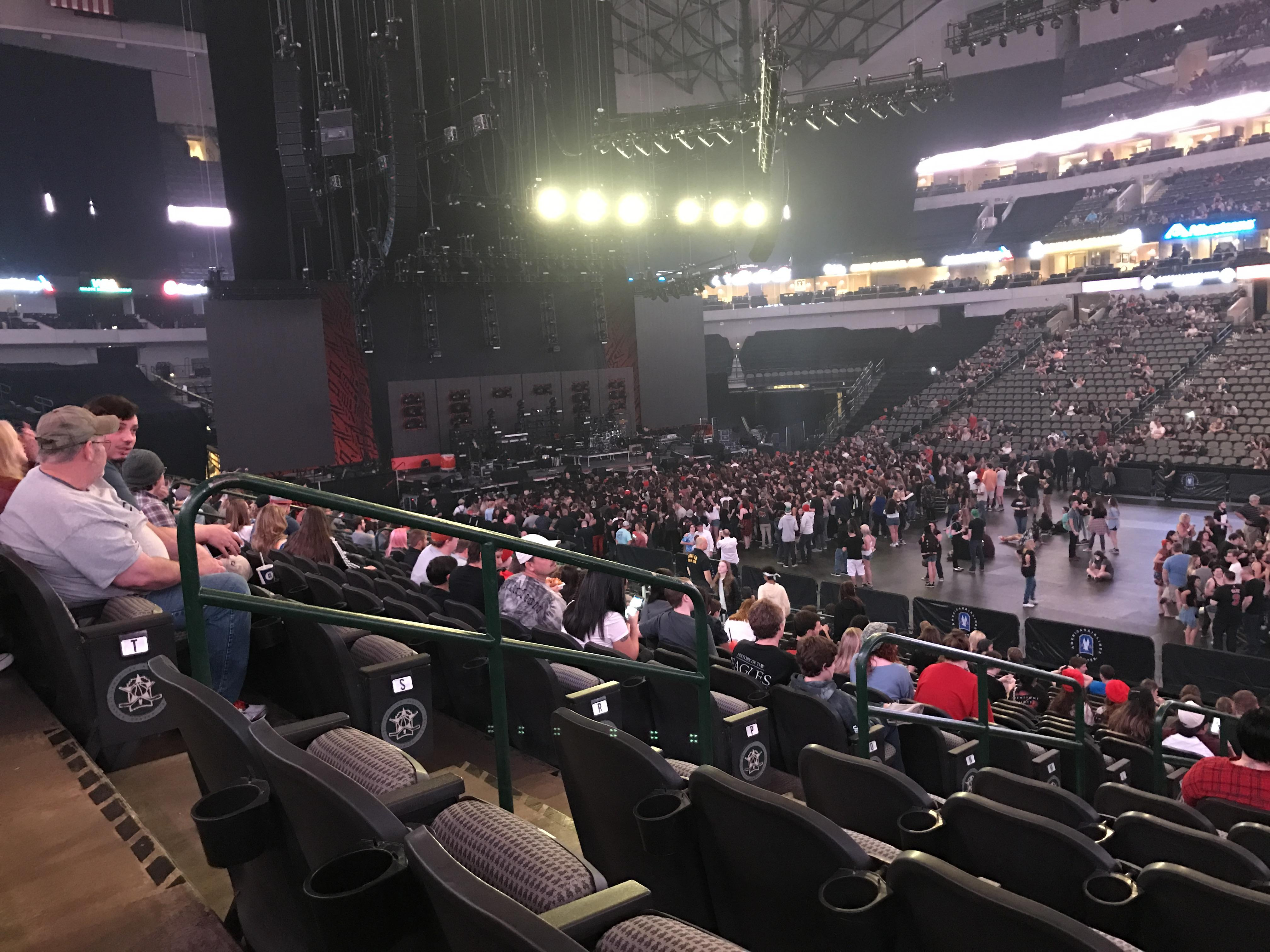 American Airlines Center Section 117 Row U Seat 14