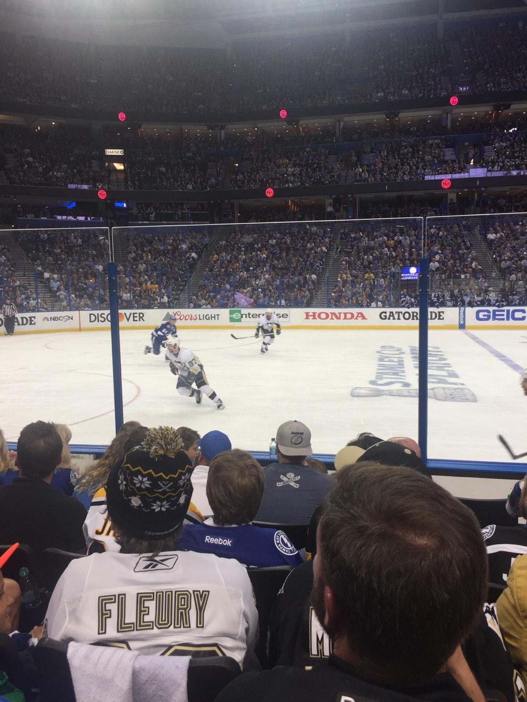 Amalie Arena Section 117 Row F Seat 11