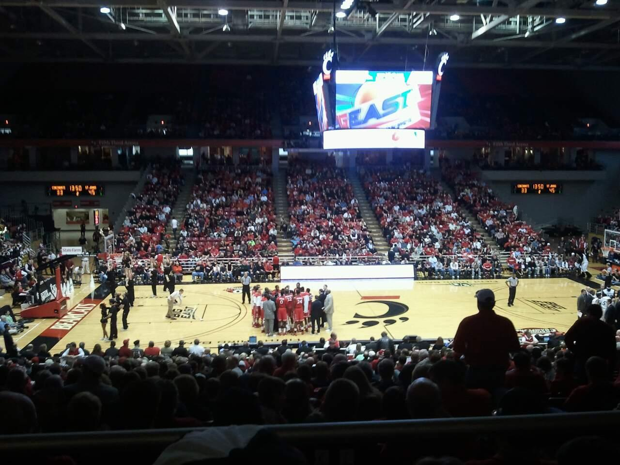 Fifth Third Arena Section 223 Row 1