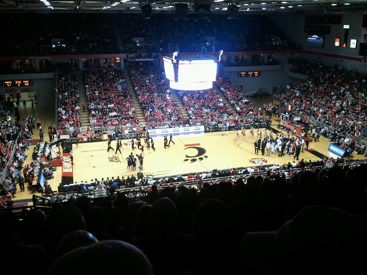 Fifth Third Arena Section 224 Row 15 Seat 1