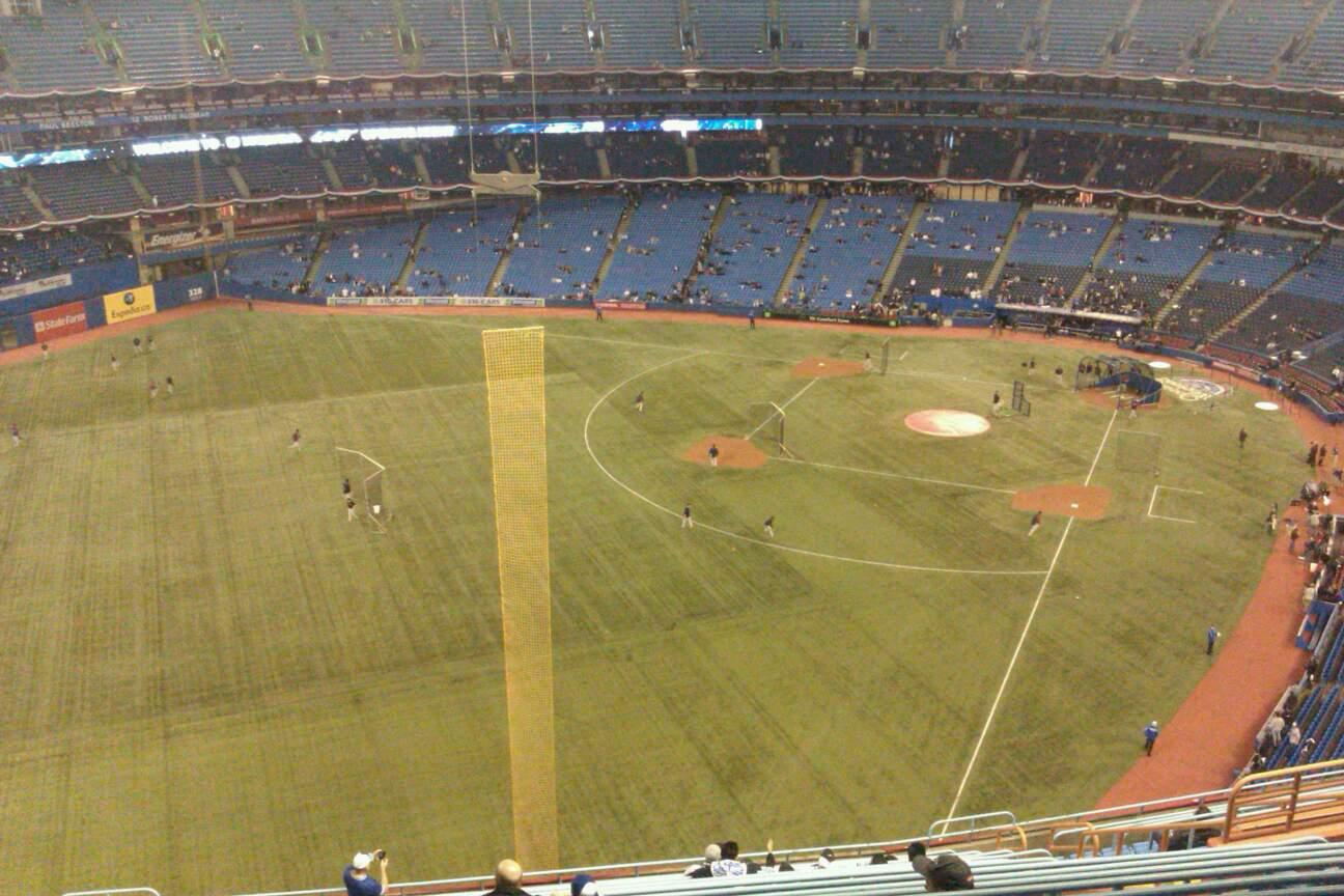 Rogers Centre Section 538L Row 19 Seat 109