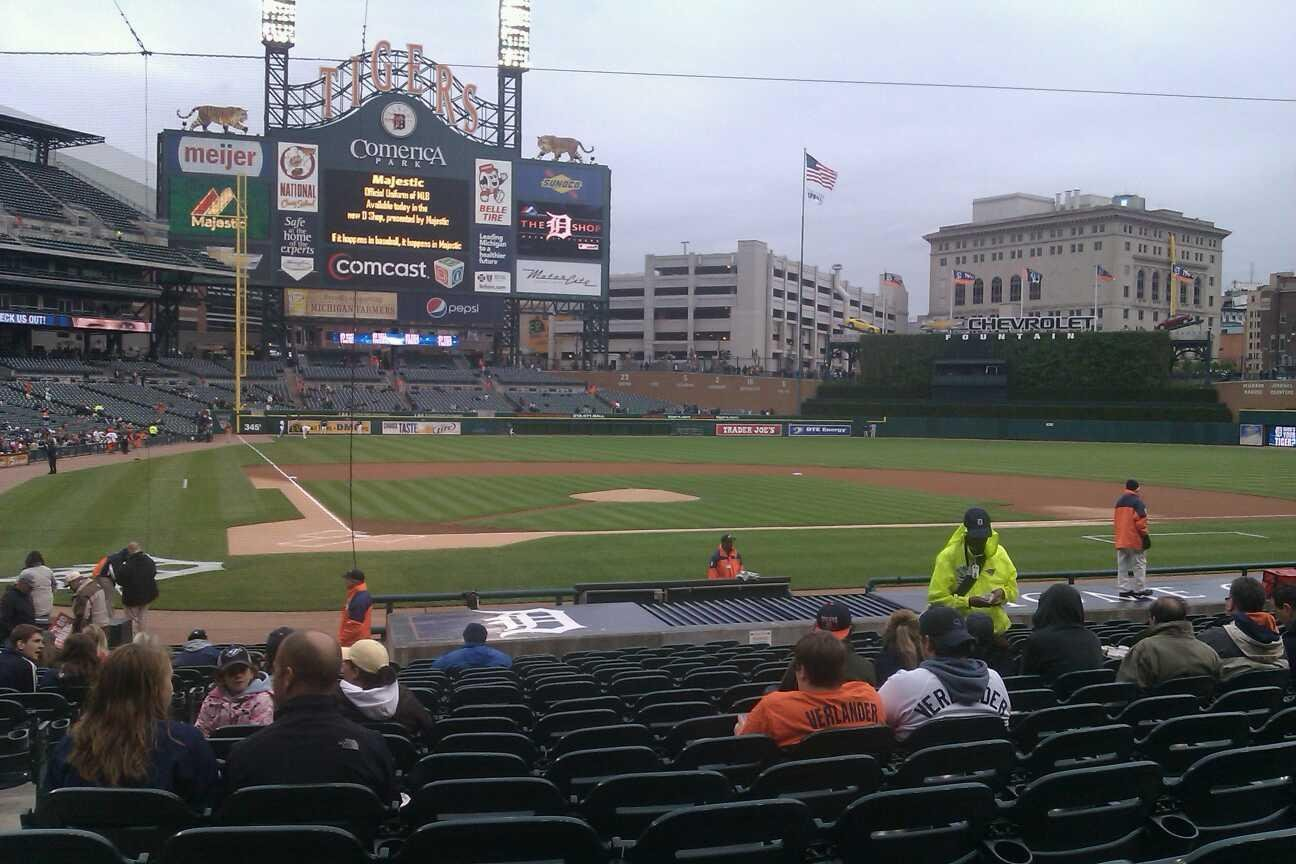 Comerica Park Section 124 Row 24 Seat 13