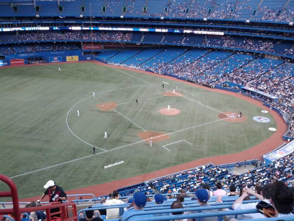 Rogers Centre Section 533R Row 12 Seat 3
