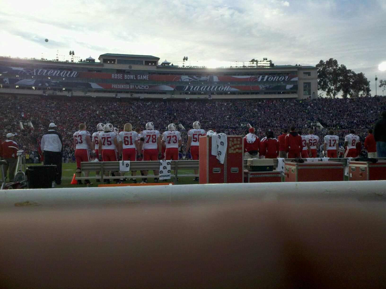 Rose Bowl Section 4-H Row 1 Seat 108