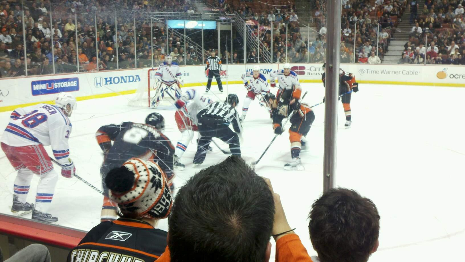 Honda Center Section 210 Row C Seat 6