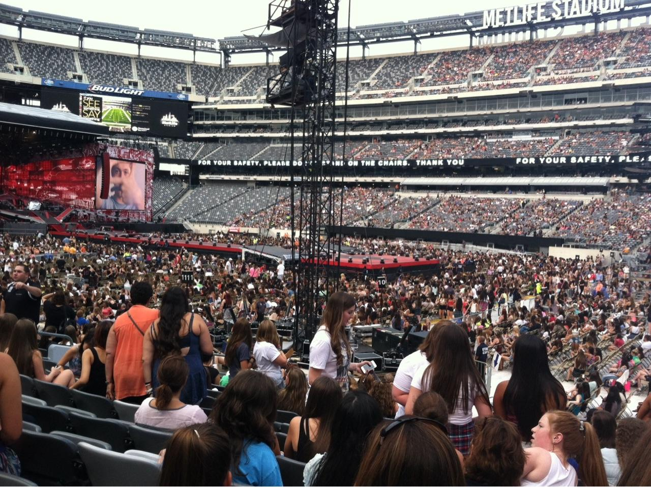 Metlife Stadium Floor Plan: MetLife Stadium Section 134 Concert Seating