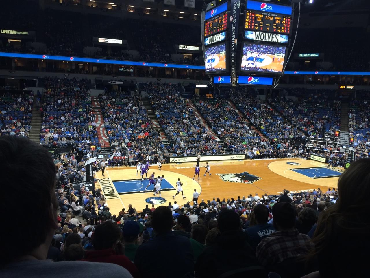 Seat View for Target Center Section 113, Row X, Seat 10