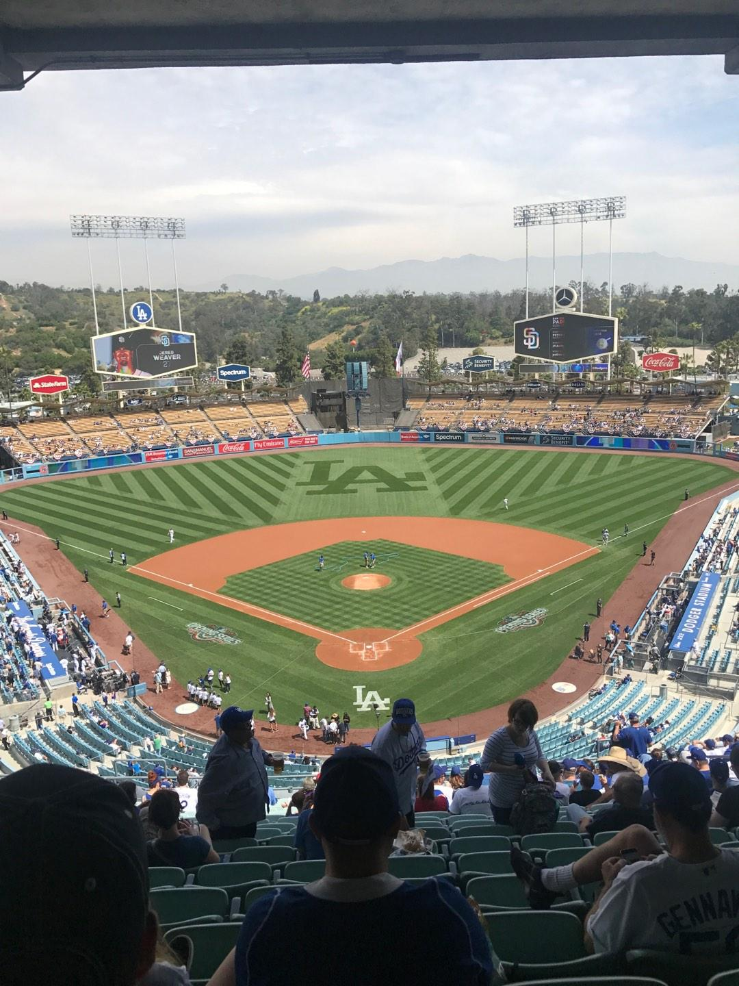 Dodger Stadium Section 1RS Row U Seat 13