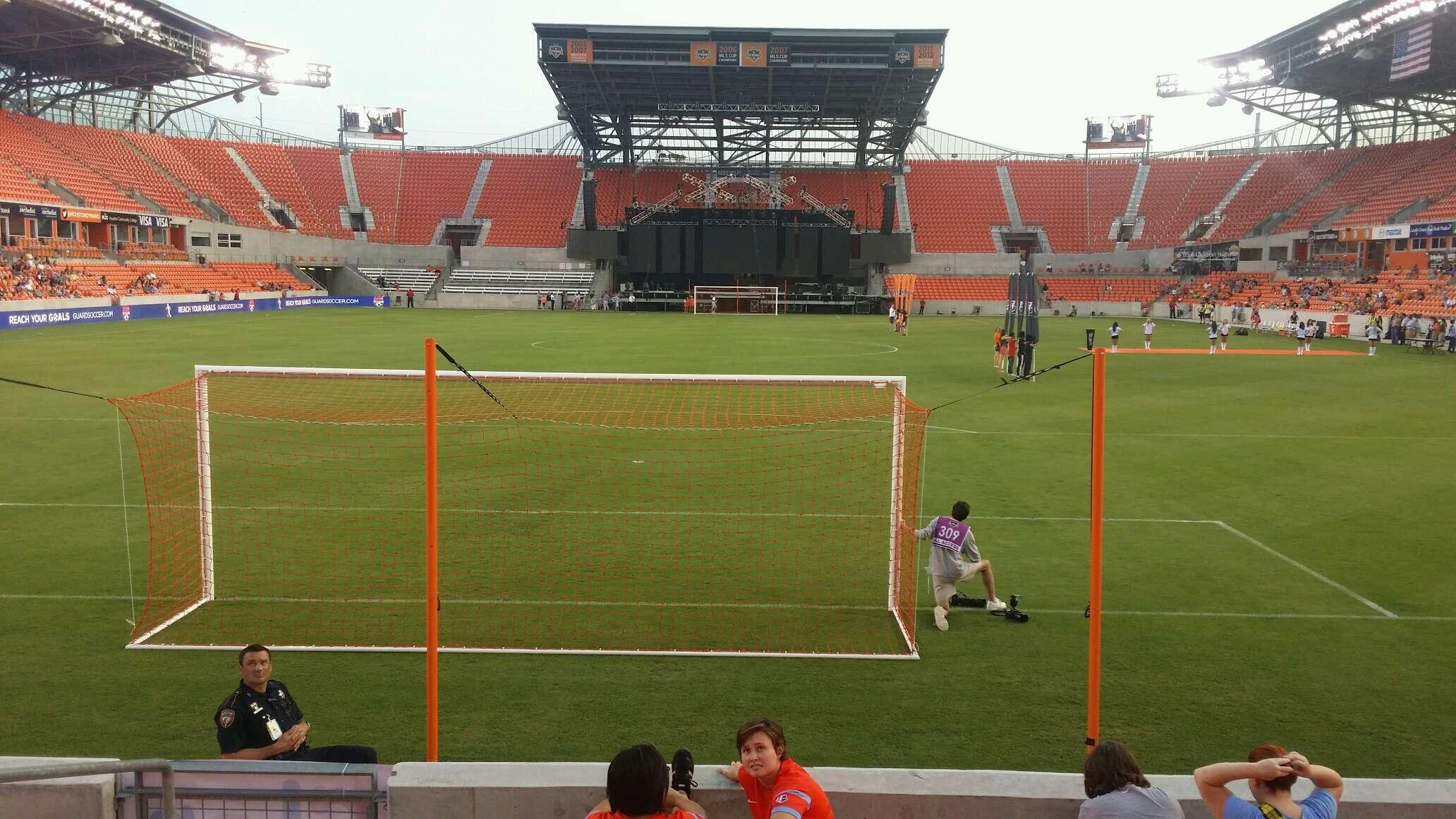 BBVA Compass Stadium Section 115 Row g Seat 25