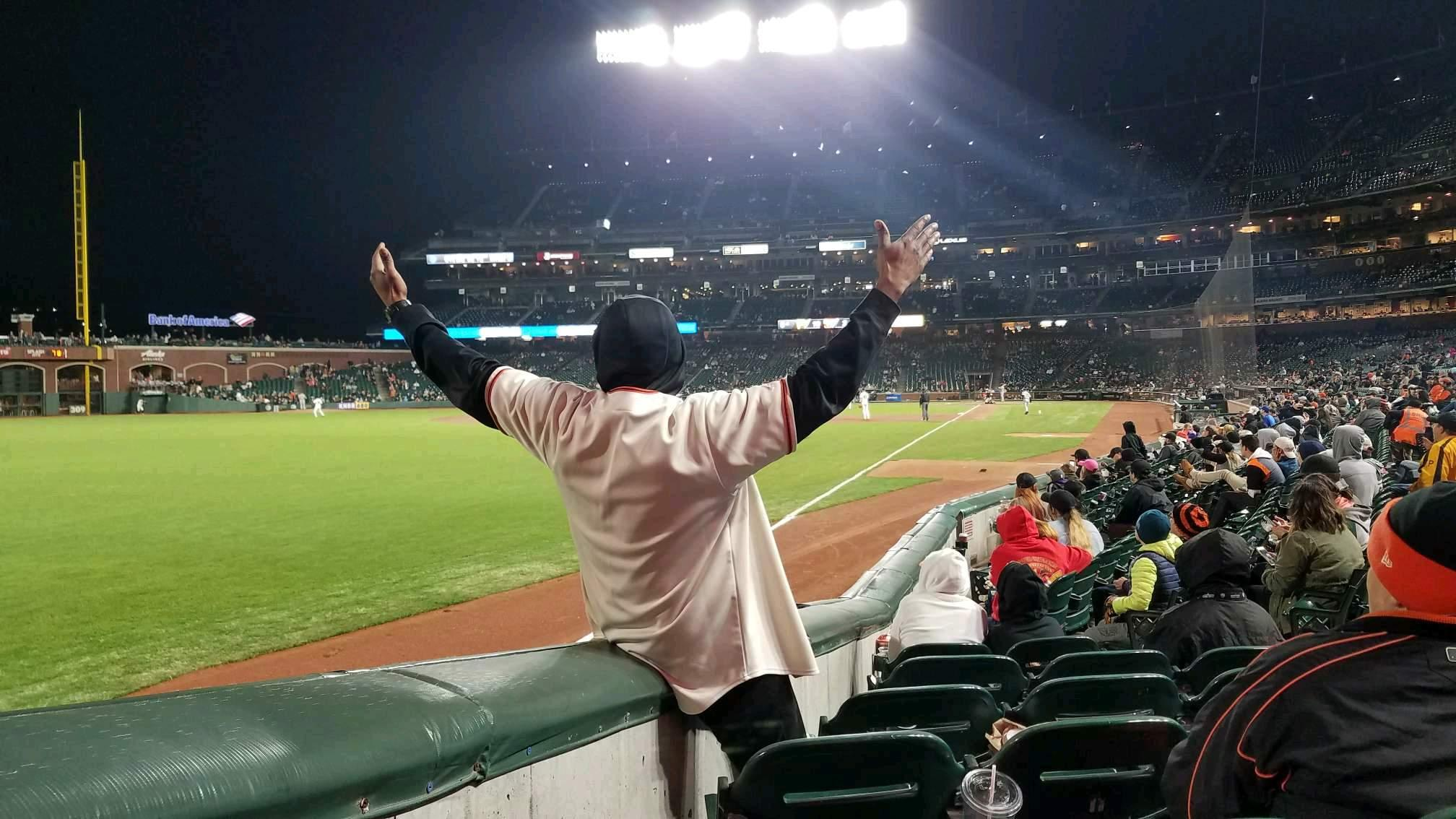 Oracle Park Section 135 Row 10 Seat 8