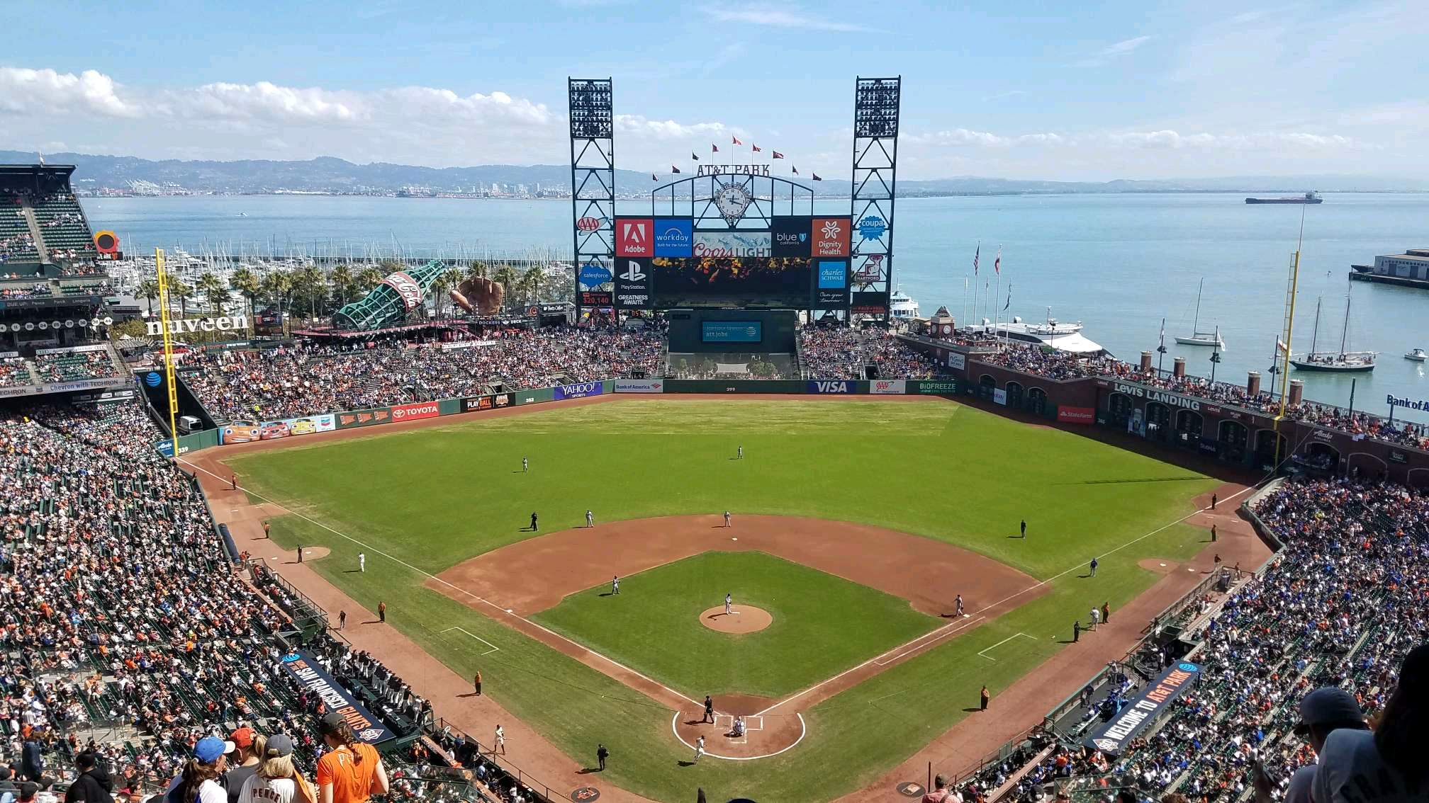 Oracle Park Section VR315 Row 18 Seat 13