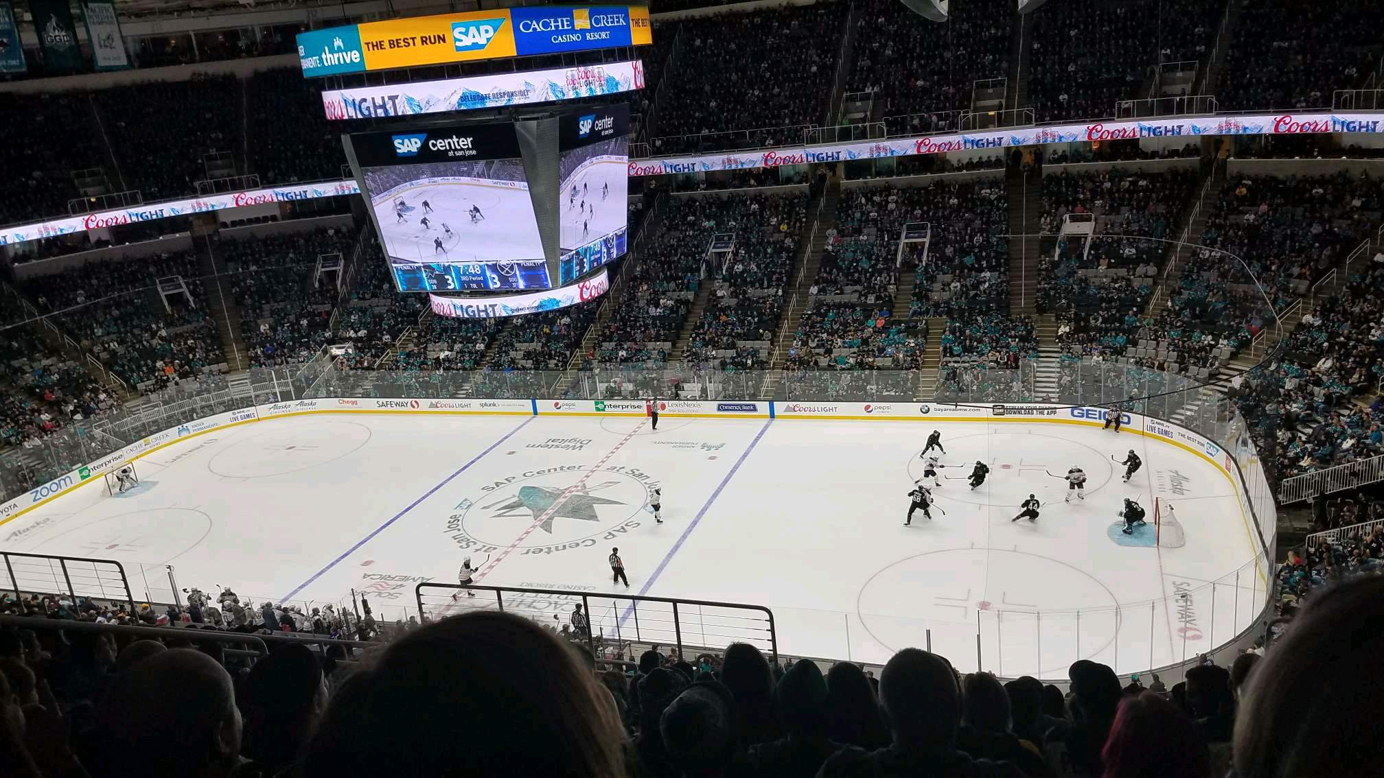 SAP Center Section 227 Row 13 Seat 18