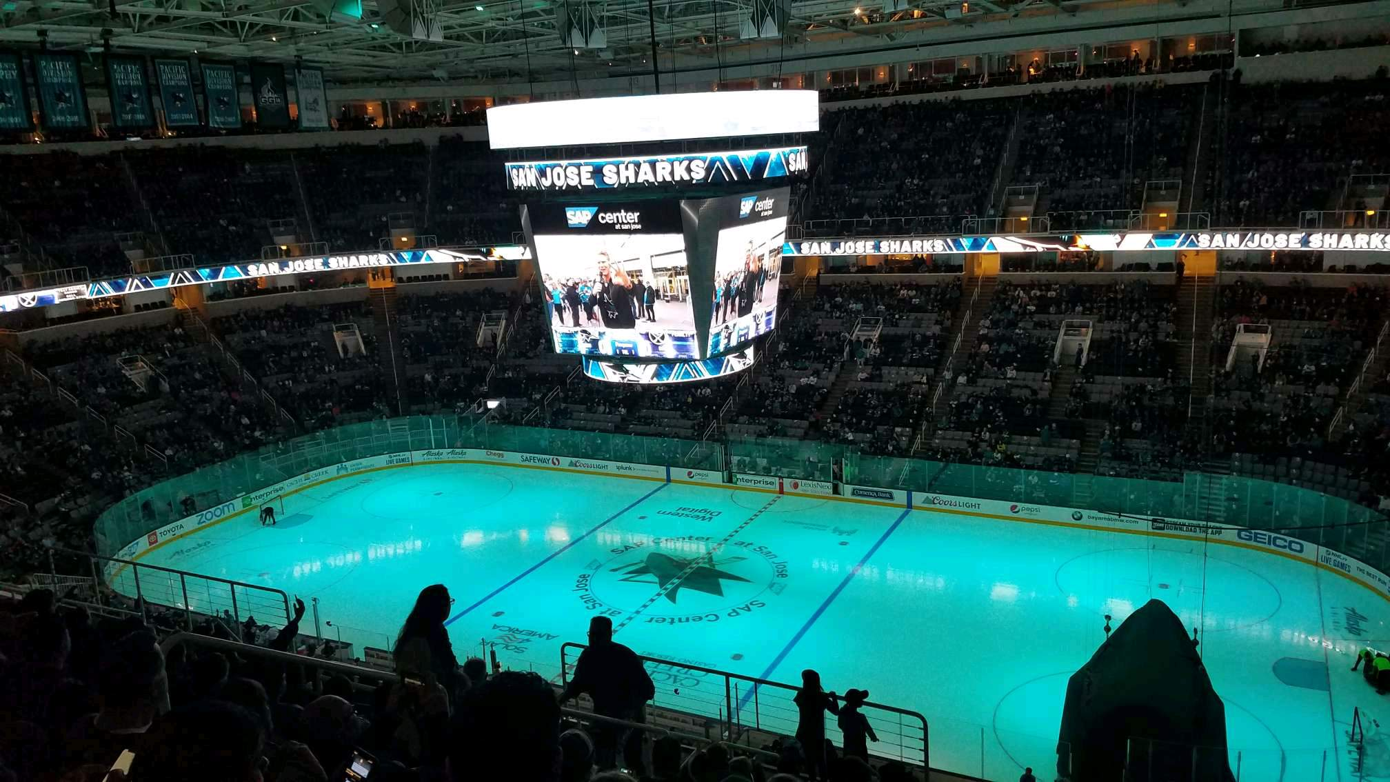 SAP Center Section 227 Row 13 Seat 17
