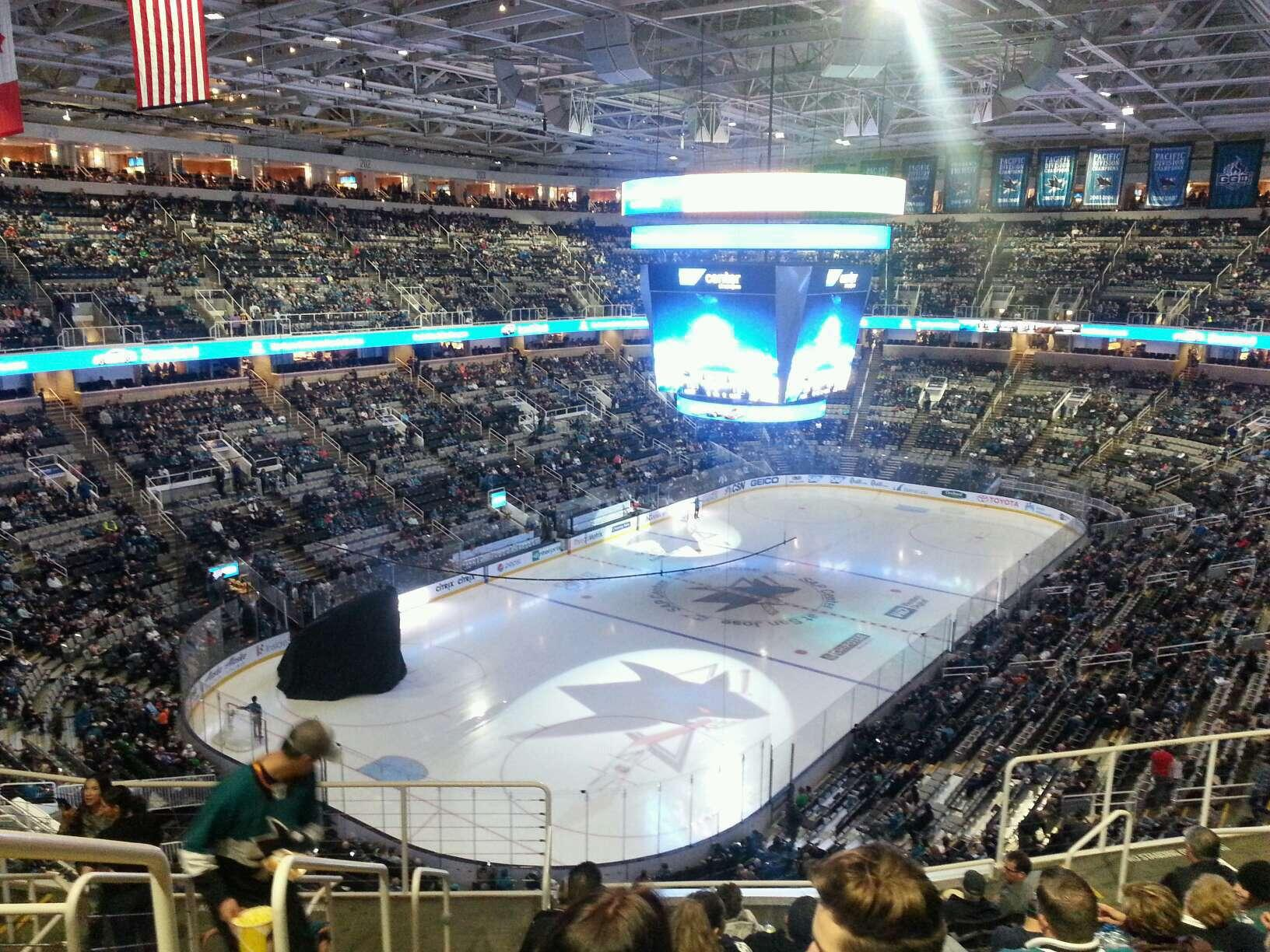 SAP Center Section 219 Row 10 Seat 19
