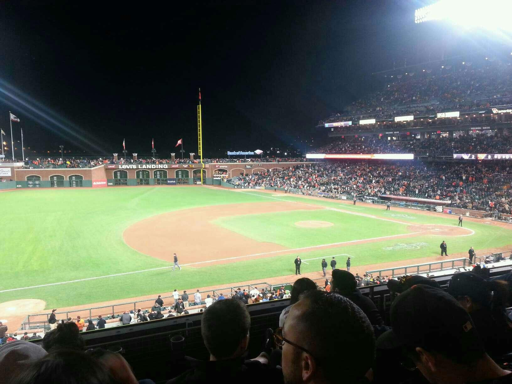 Oracle Park Section 225 Row D Seat 16