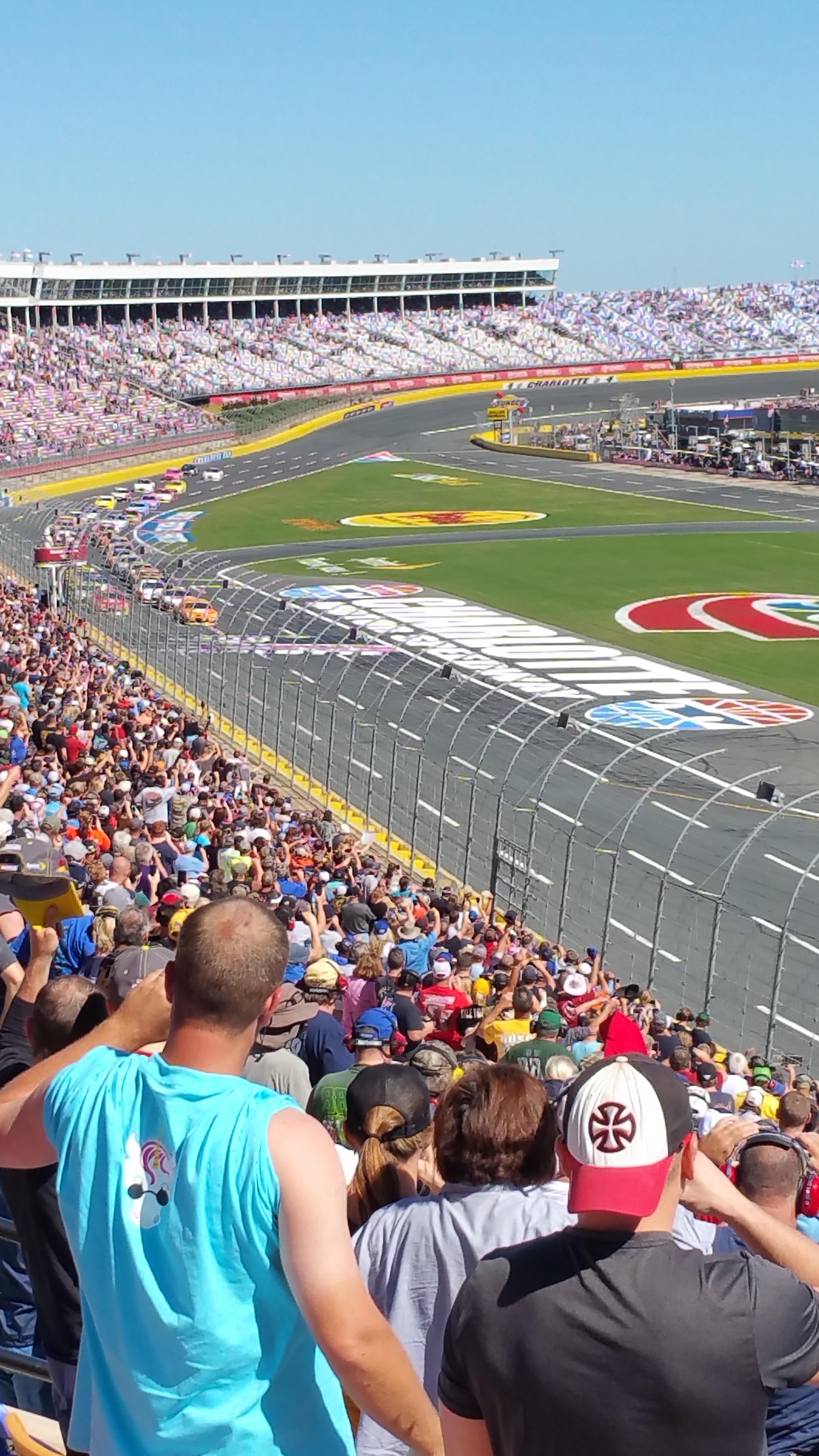 Charlotte Motor Speedway Section Ver J Row 38 Seat 15