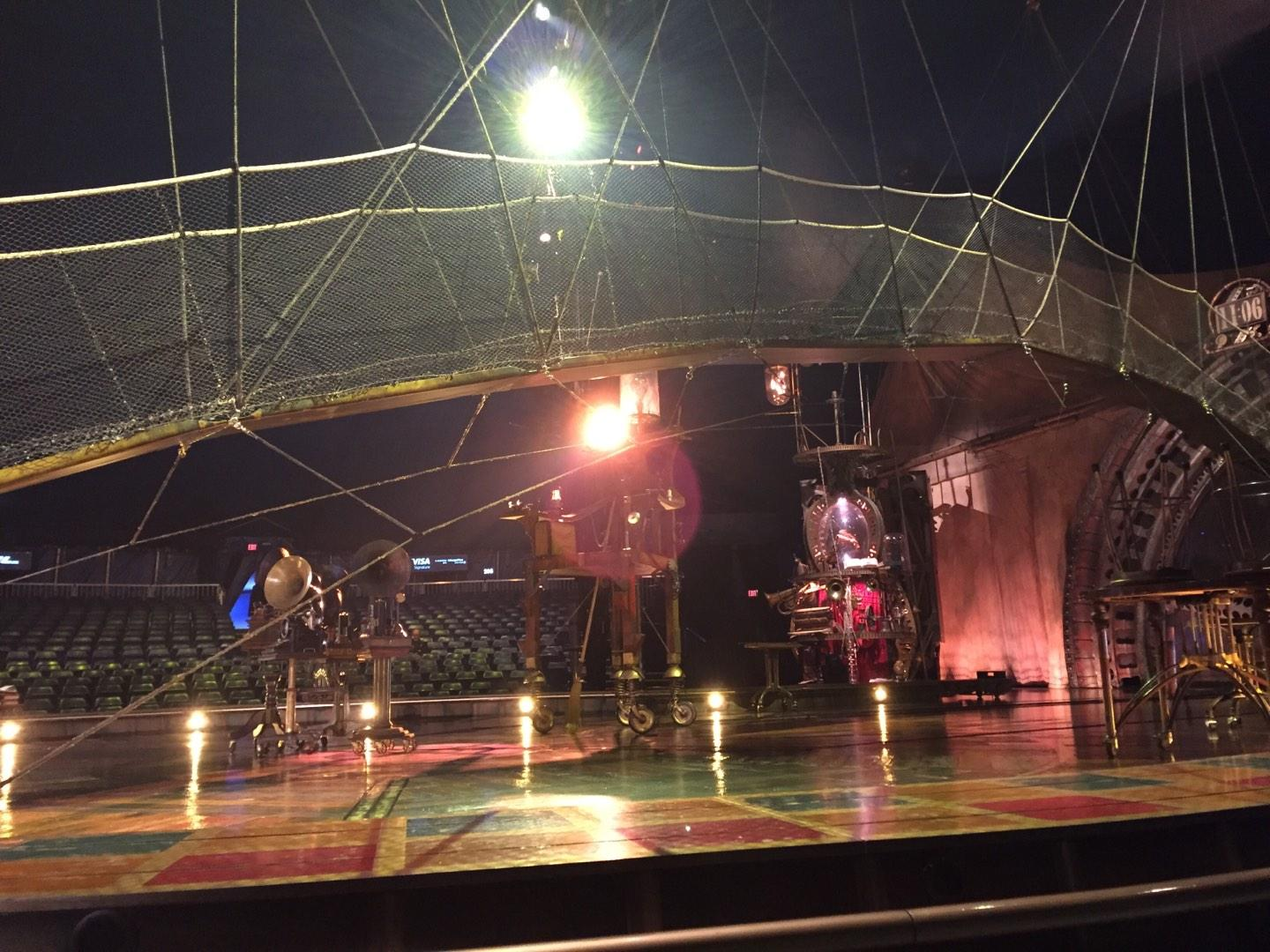 Cirque Du Soleil Section 104 Row AA Seat 1