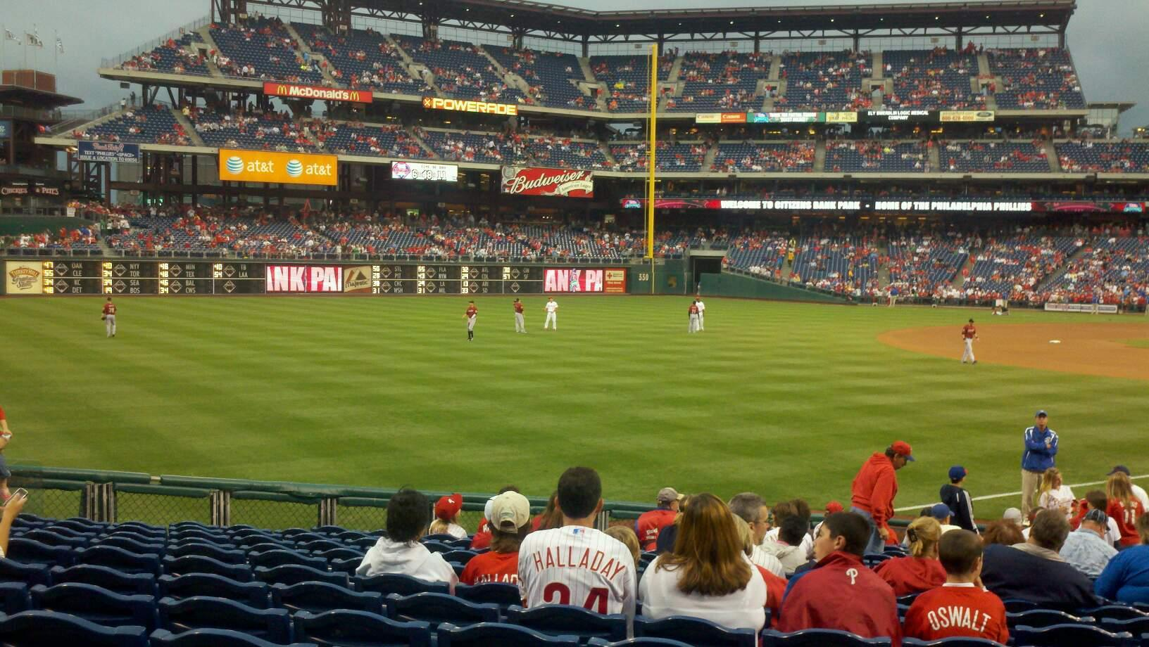 Citizens Bank Park Section 138 Row 20 Seat 06