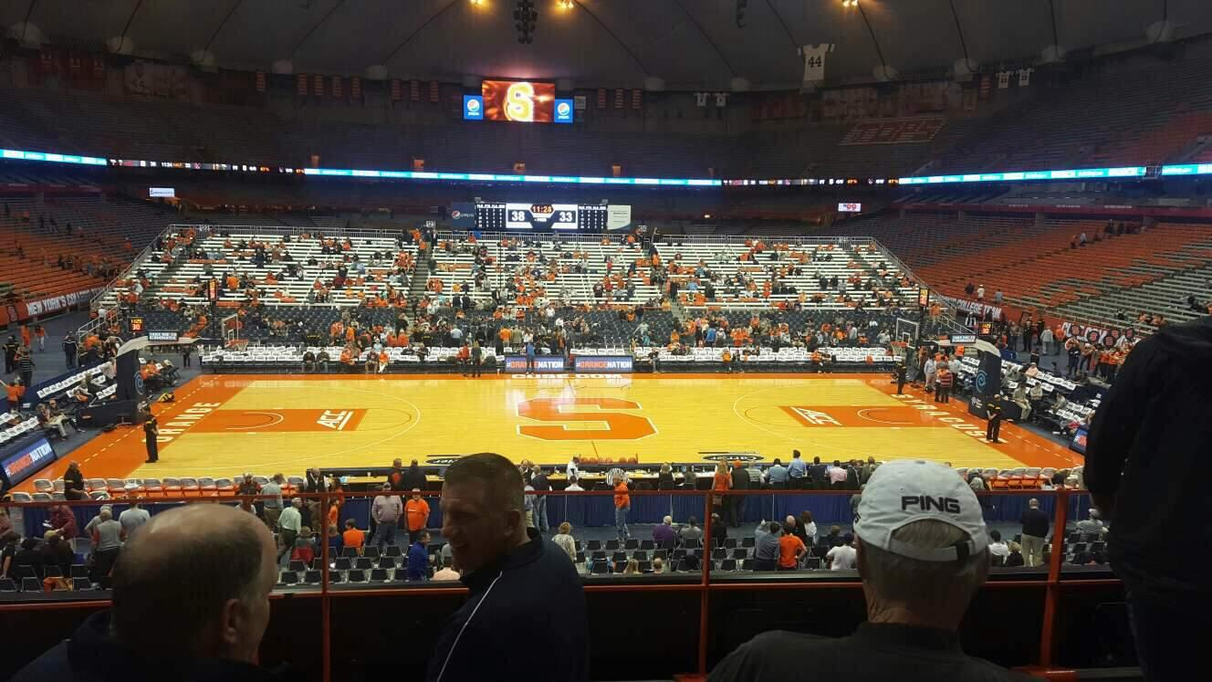 Carrier Dome Section 212 Row D Seat 110