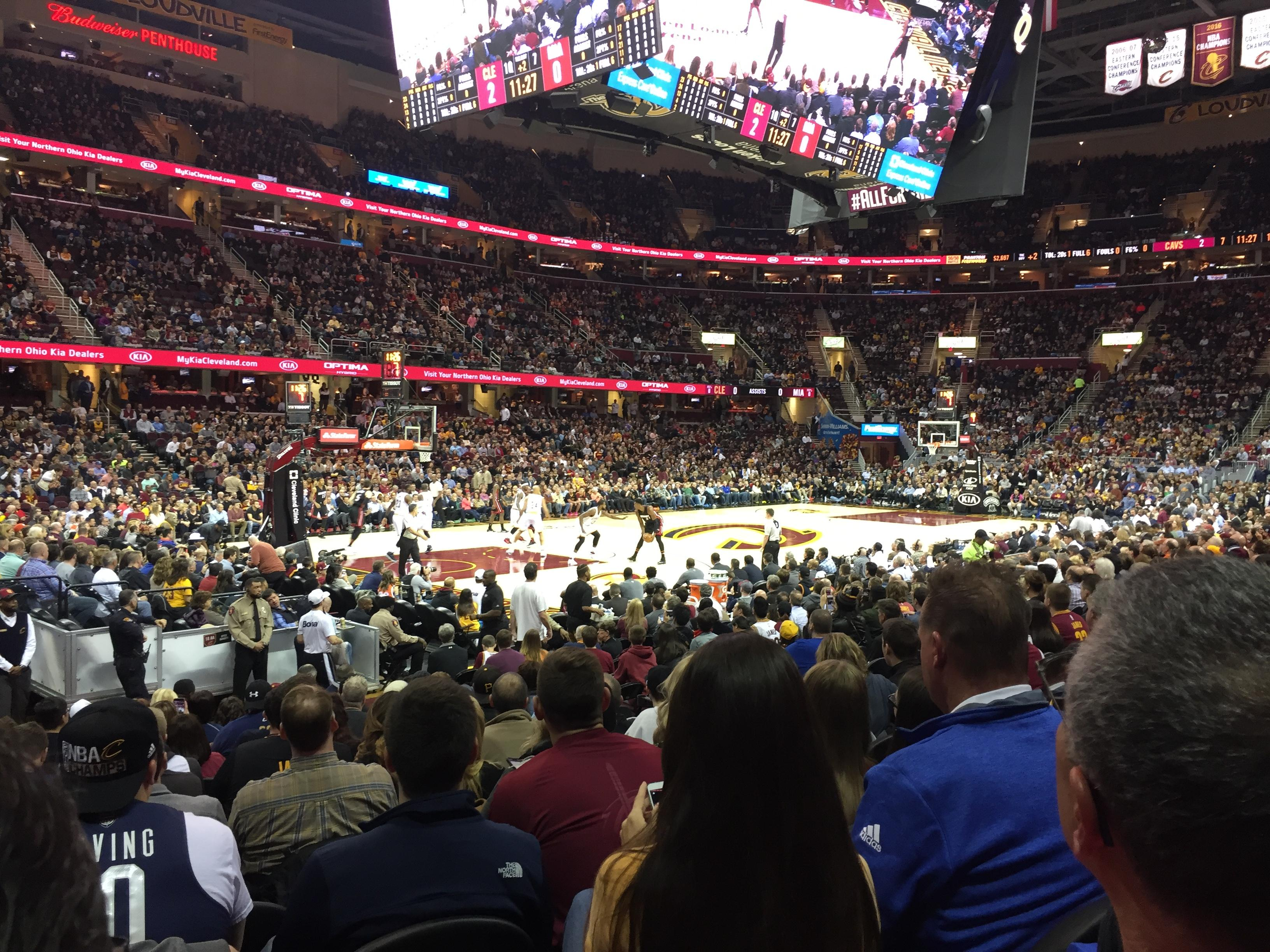 Quicken Loans Arena Section 123 Row 13 Seat 10
