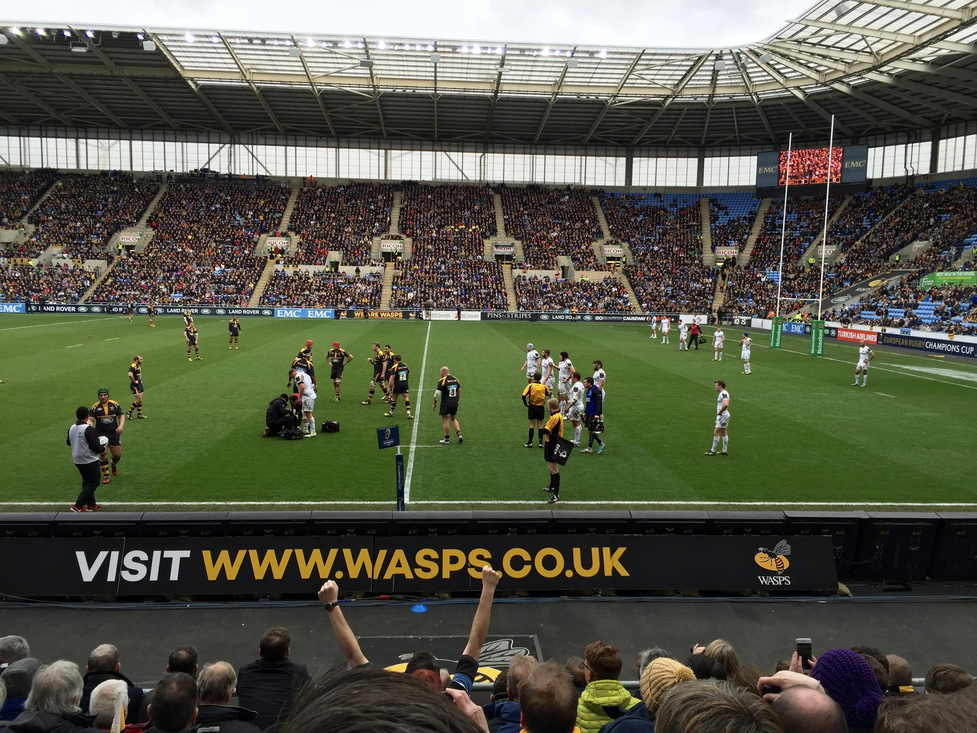 Ricoh Arena Section 1 Row H Seat 13