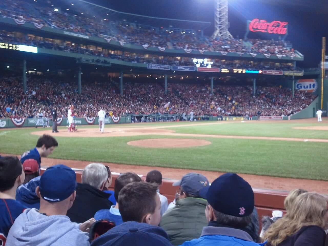 Fenway Park Section Field Box 30 Row C