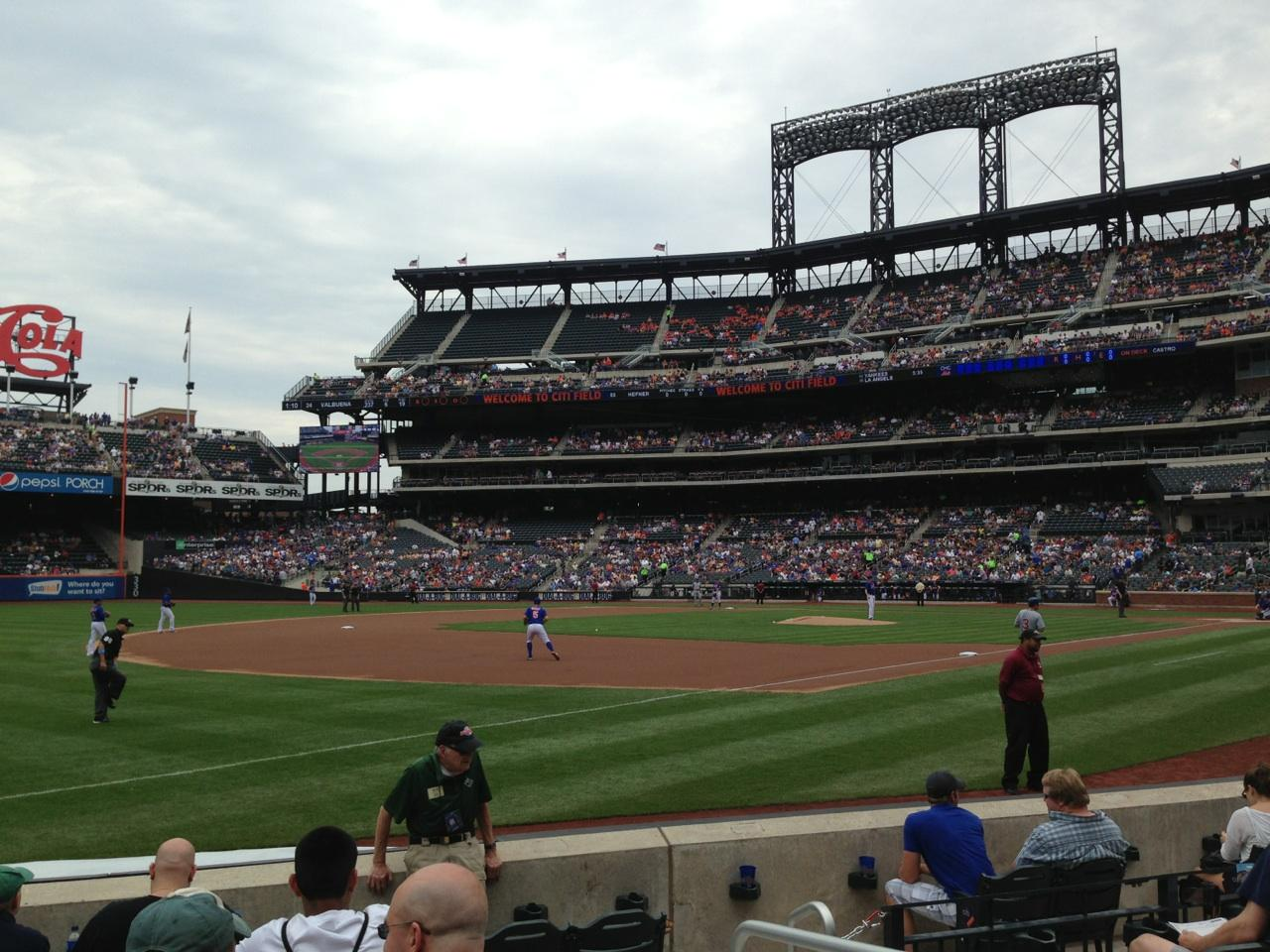 Citi Field Section 126 Row 3 Seat 1 New York Mets Vs