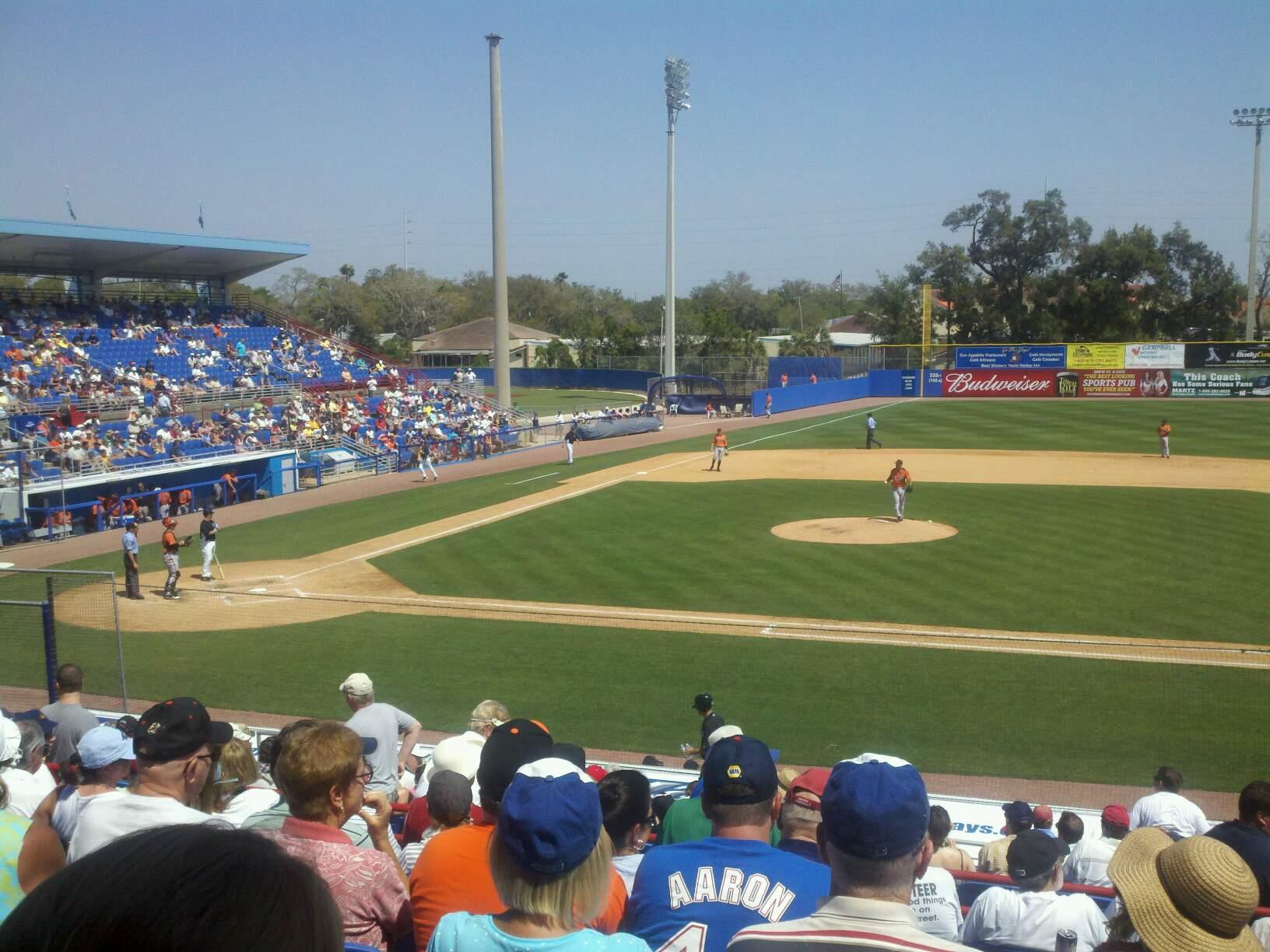 Dunedin Stadium Section 203 Row 9 Seat 4