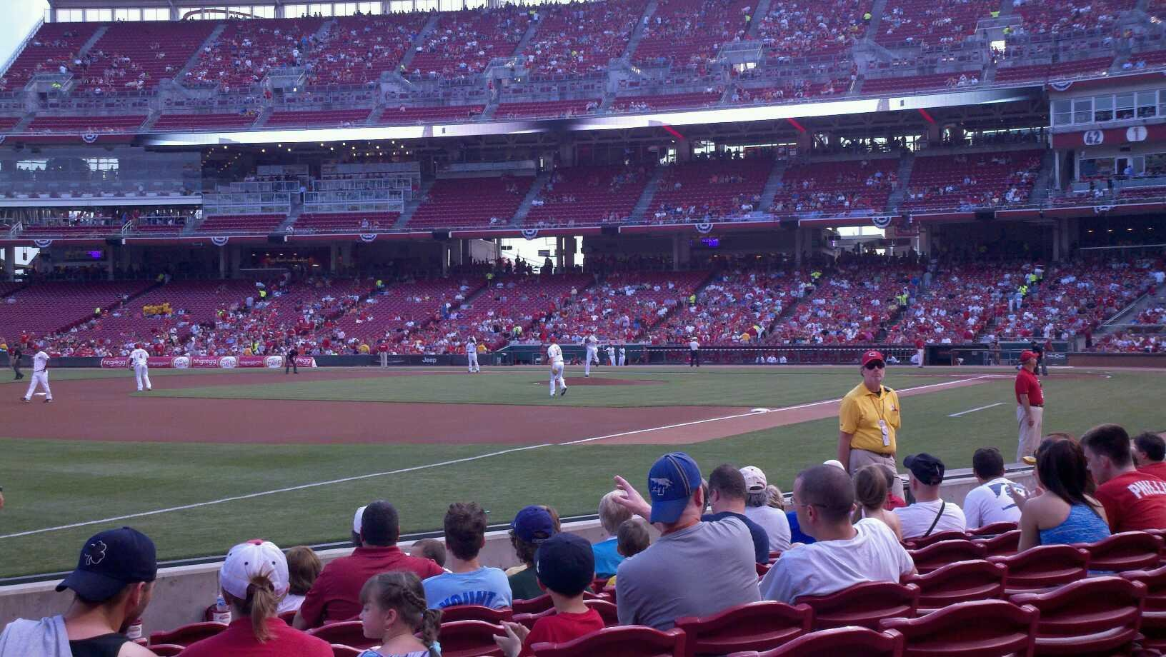 Great American Ball Park Section 112 Row I Seat 14