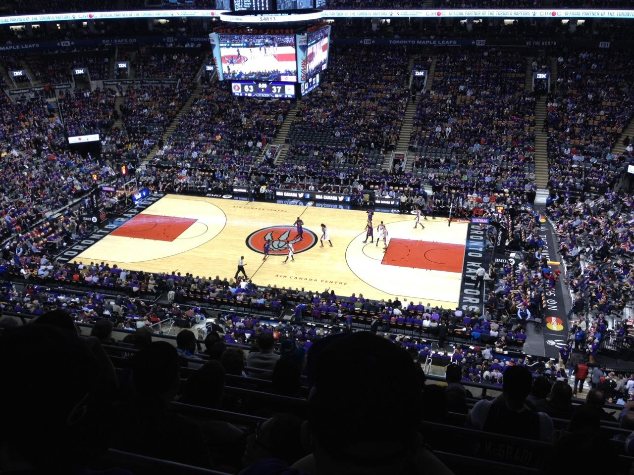 Toronto Raptors Seat View for Air Canada Centre Section 308, Row 8, Seat 5