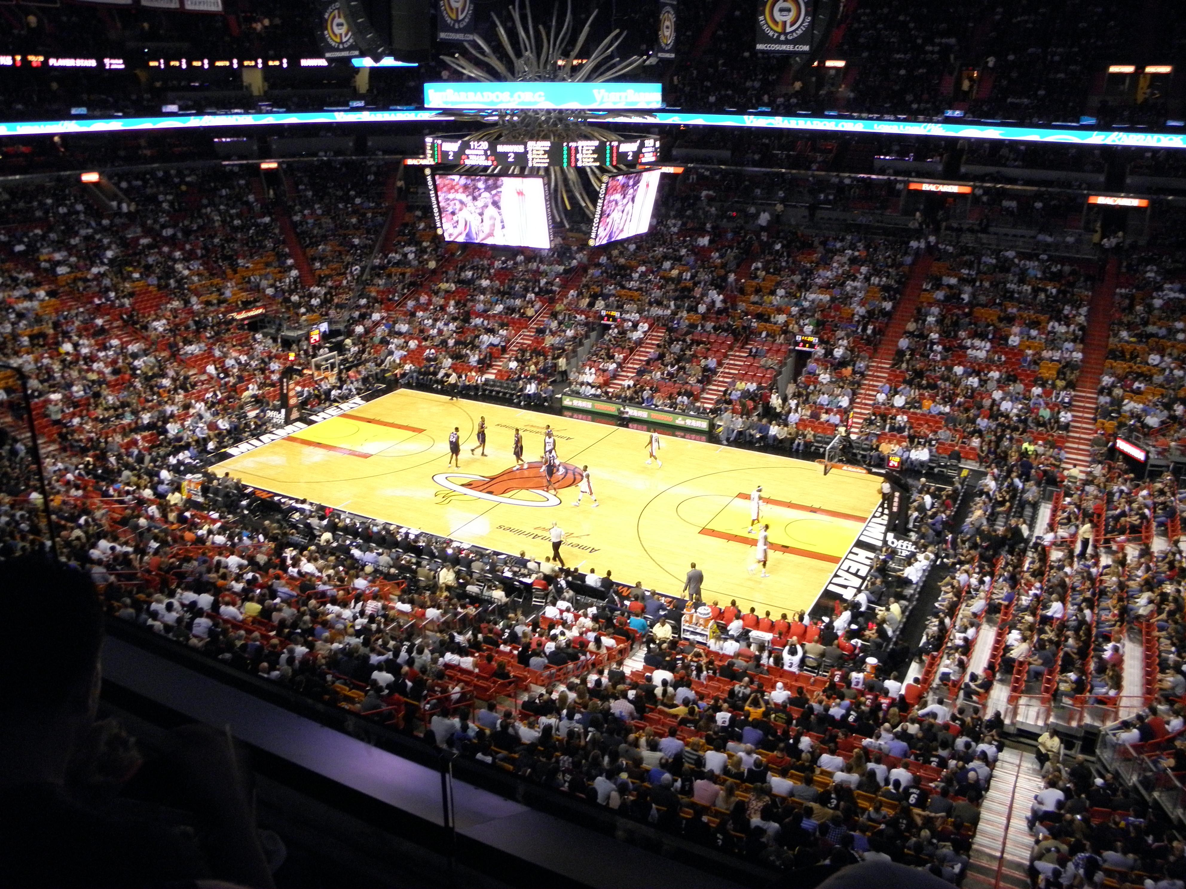 americanairlines arena section 306 - miami heat
