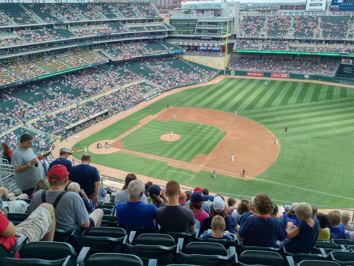 Target Field Section 307 Row 10 Seat 9