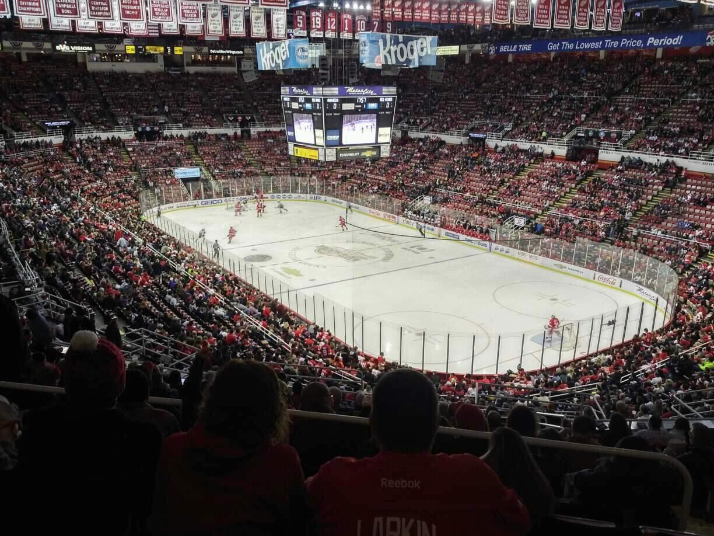 Joe Louis Arena Section 203B Row 17 Seat 18