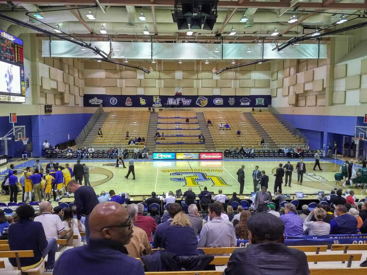 UC Riverside Student Recreation Center Section 203 Row S Seat 13