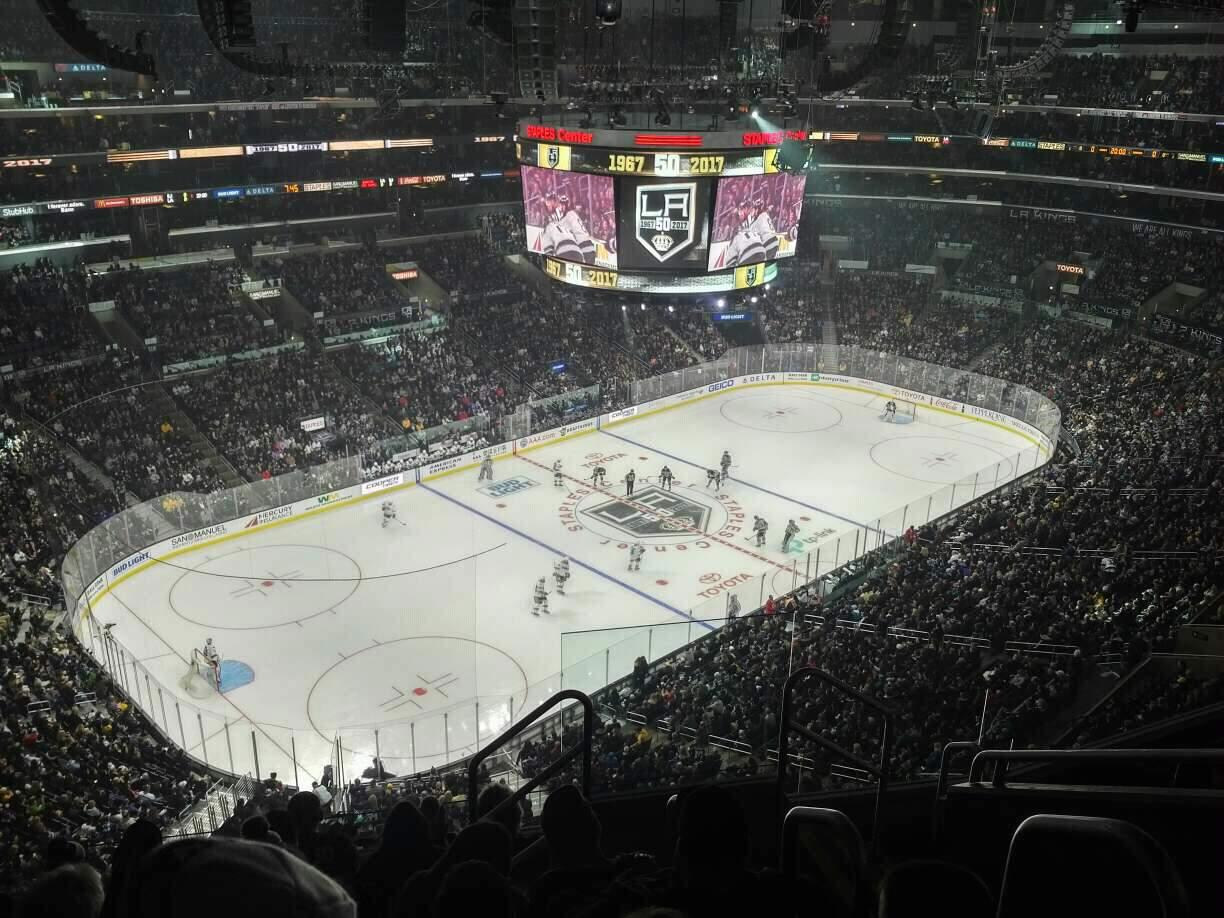 Staples Center Section 322 Row 7 Seat 3