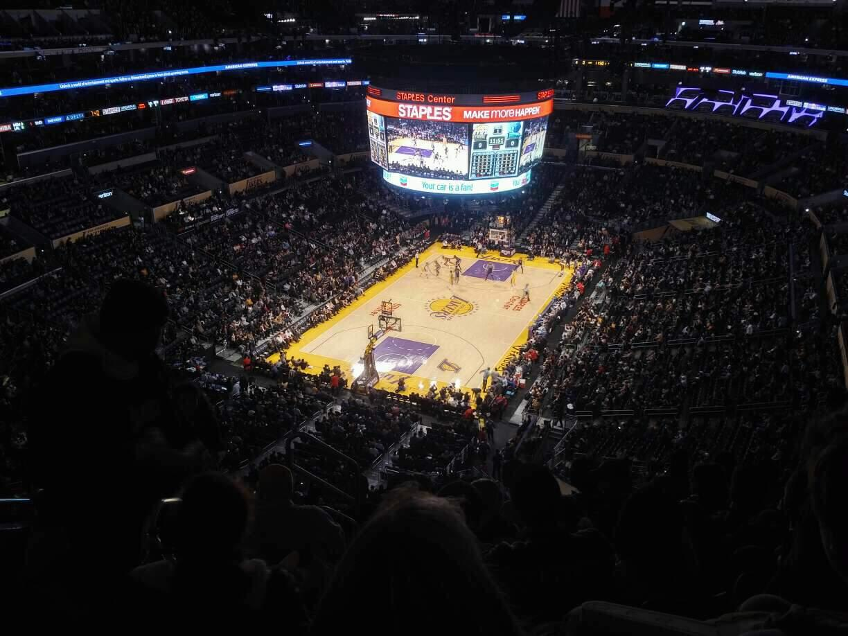 Staples Center Section 307 Row 8 Seat 13