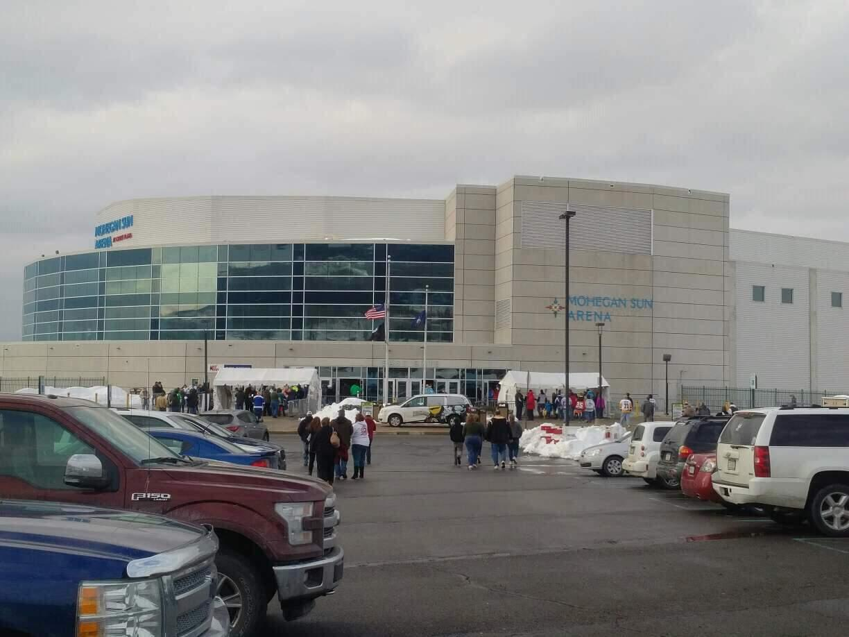 Mohegan Sun Arena at Casey Plaza Section exterior