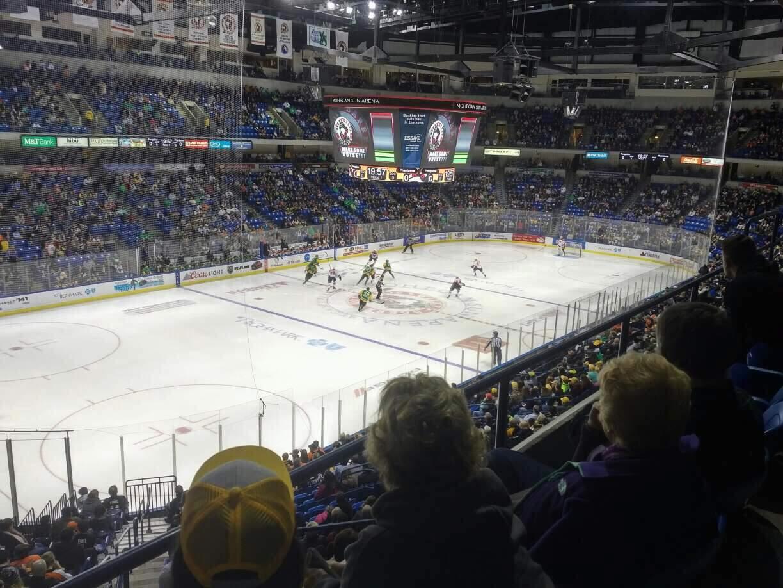 Mohegan Sun Arena at Casey Plaza Section 220 Row B Seat 13