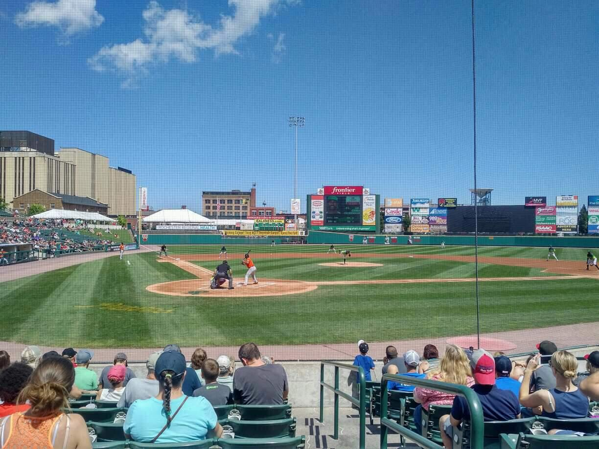 Frontier Field Section 112 Row K Seat 1