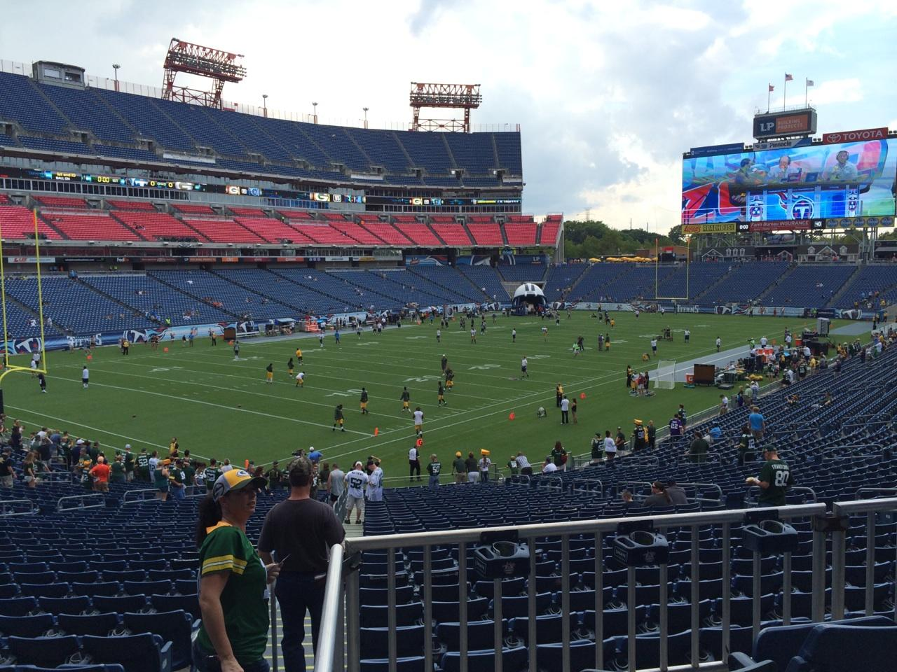 View From Section 118, Row HH, Seat 12