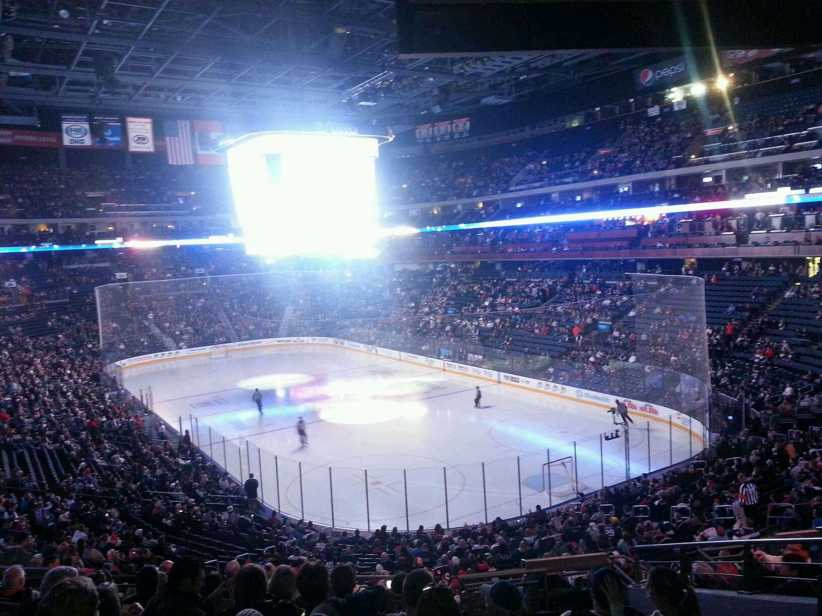Columbus Blue Jackets Seat View for Nationwide Arena Section 122, Row LL, Seat 8