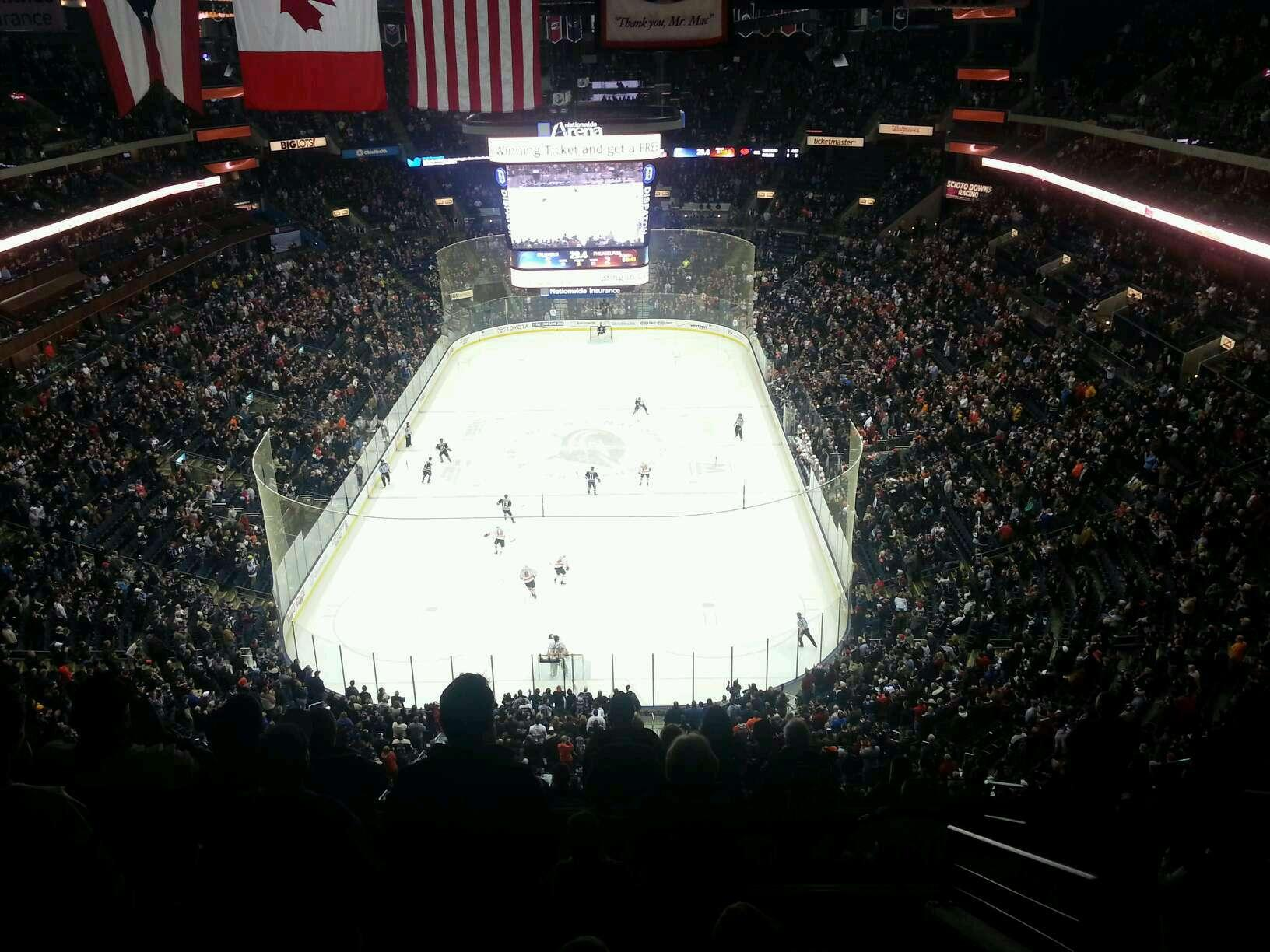 Columbus Blue Jackets Seat View for Nationwide Arena Section 210, Row L, Seat 2