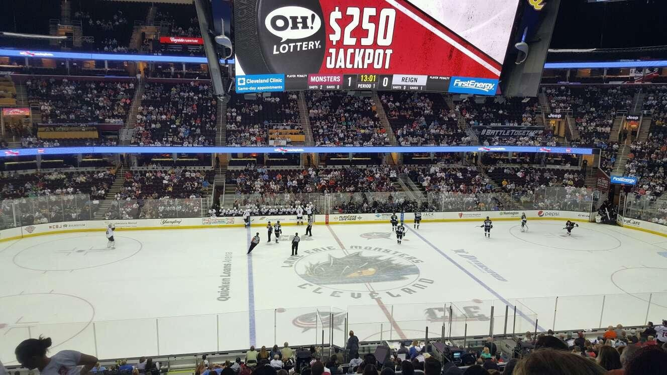 Quicken Loans Arena Section c108 Row 24 Seat 4