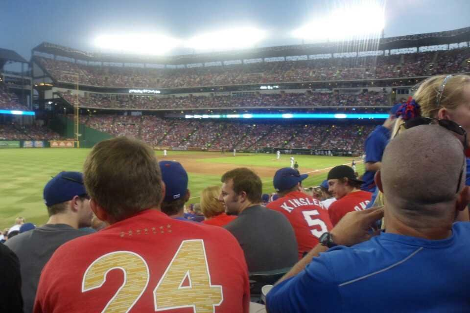 Globe Life Park in Arlington Section 13 Row 18 Seat 7