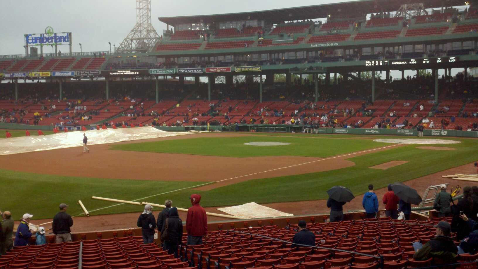 Fenway Park Section Loge Box 160 Row jj Seat 9