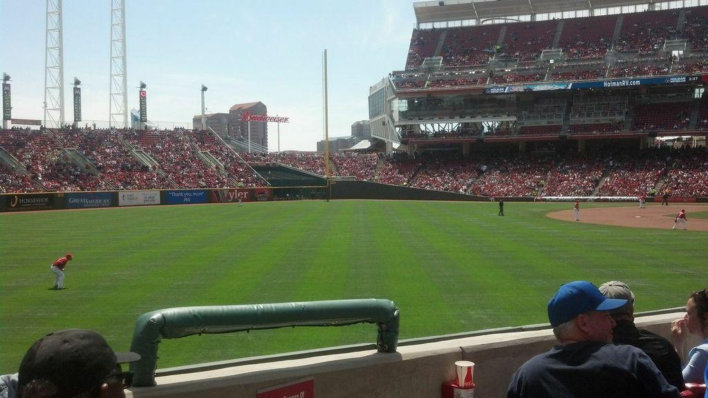 Great American Ball Park Section 108 Row V Seat 1
