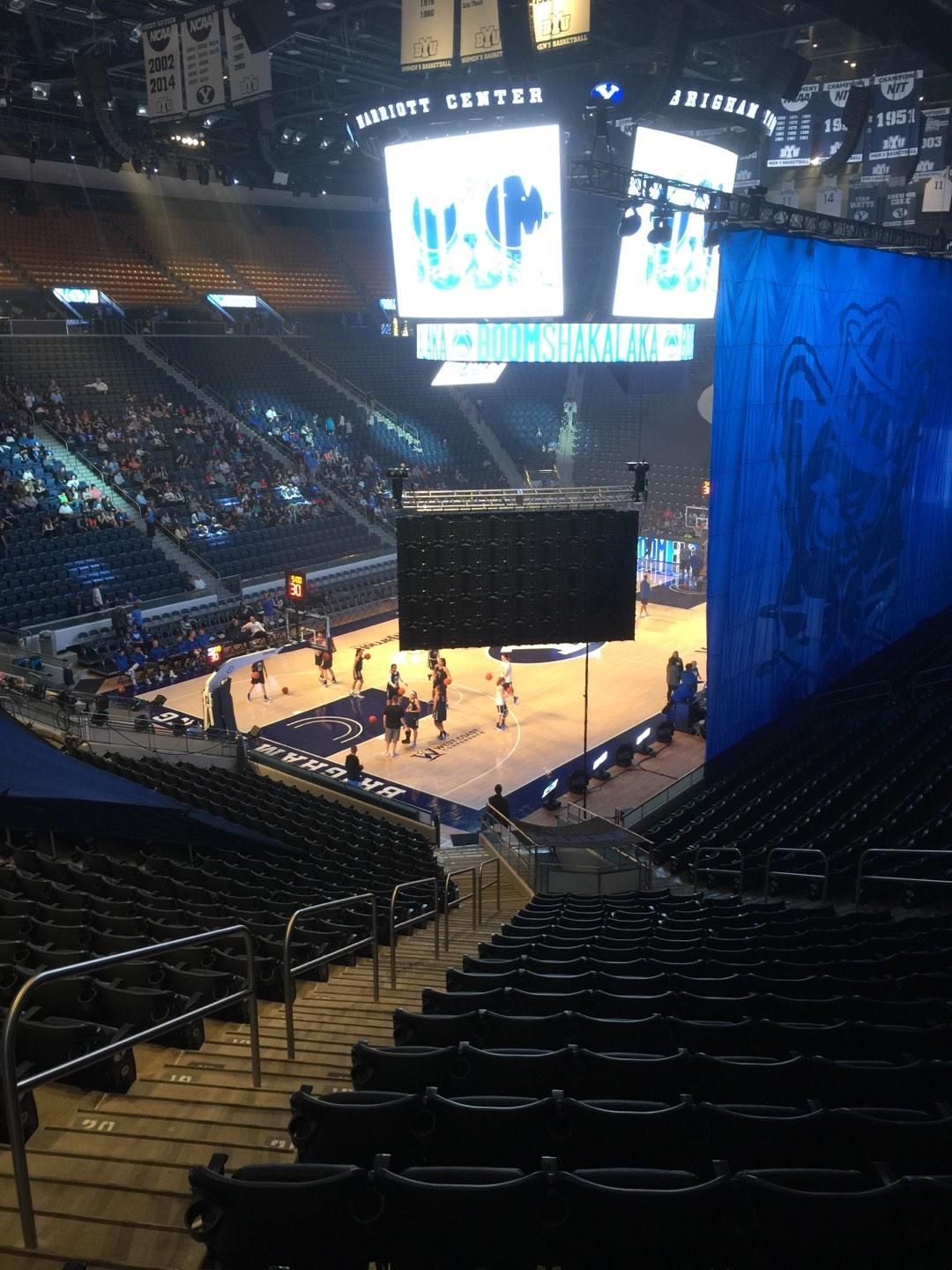 Marriott Center Section 1 Row 25 Seat 18
