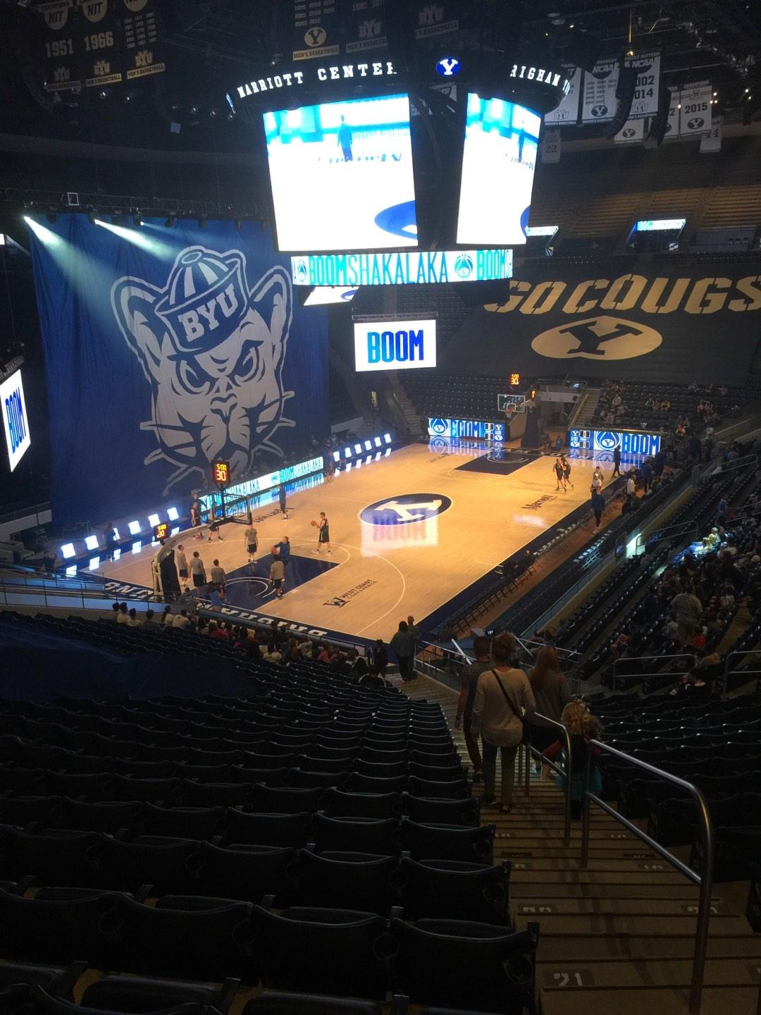 Marriott Center Section 13 Row 25 Seat 1
